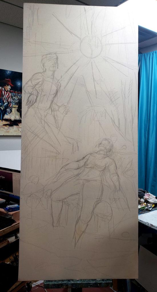 sketching and writing