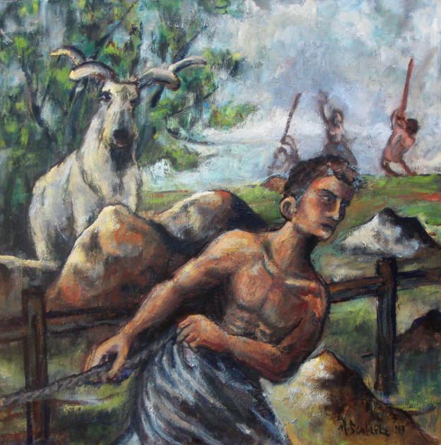 The Interloper - oil on canvas - Michael Schliefke