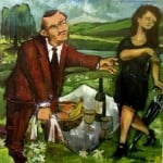 The Italian Comedy - oil on canvas Michael Schliefke