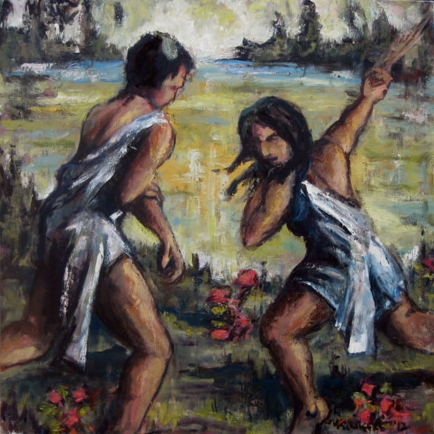 Sibling Rivalry - oil on canvas - Michael Schliefke