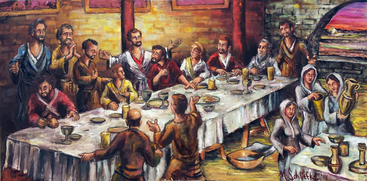 Last Supper Oil Painting Commission