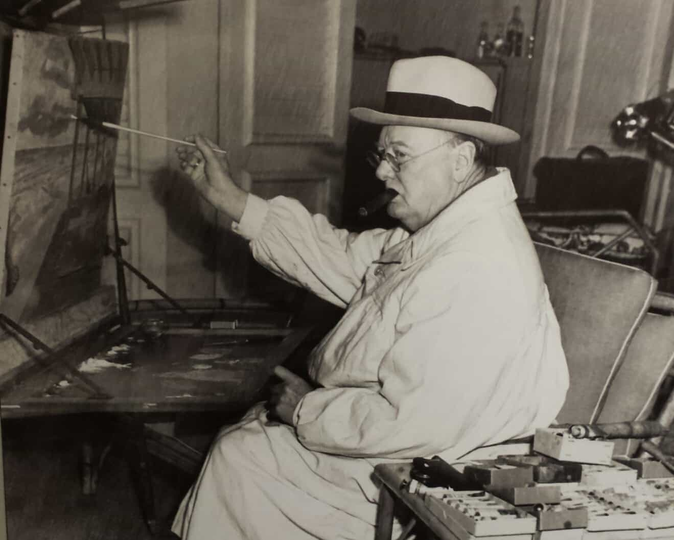Picture of winston churchill painting from the hallmark visitor s