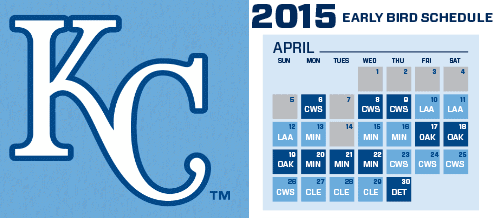 picture regarding Kc Royals Schedule Printable named We Received This - The Formal 2015 Royals Slogan