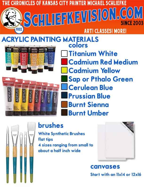 Private Oil or Acrylic Painting Classes in Kansas City, Missouri
