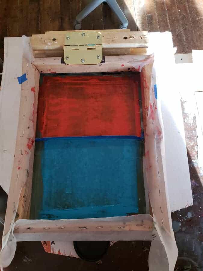 inked silkscreen