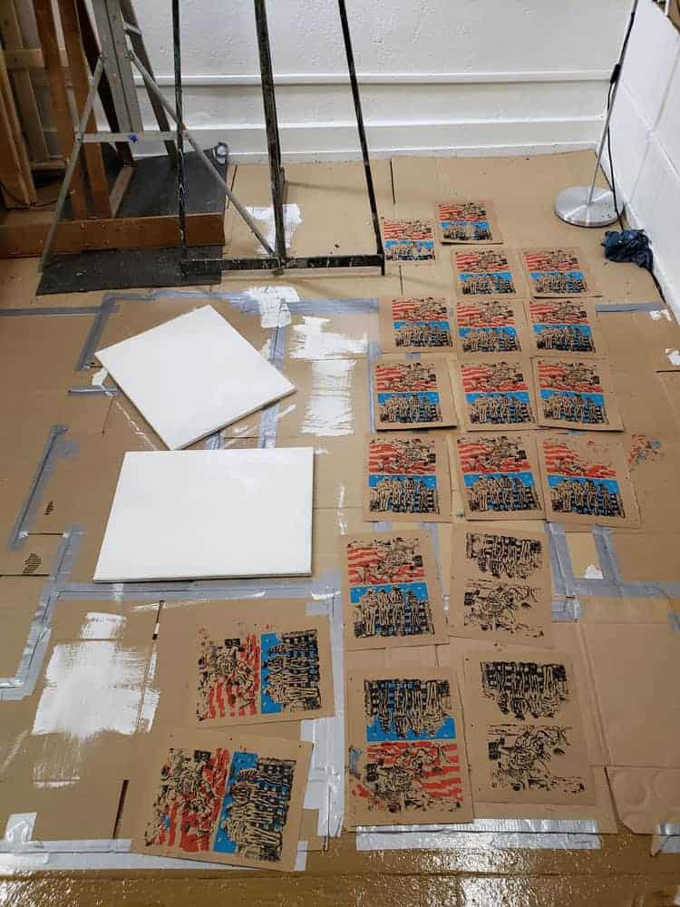 silkscreened prints