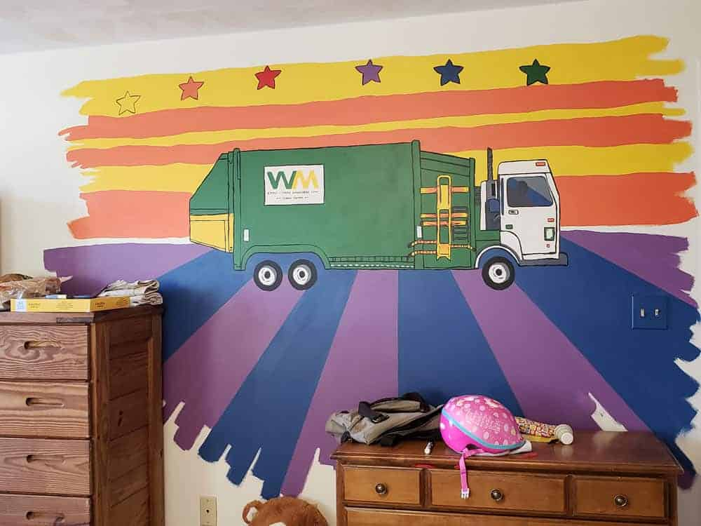 finished kids mural