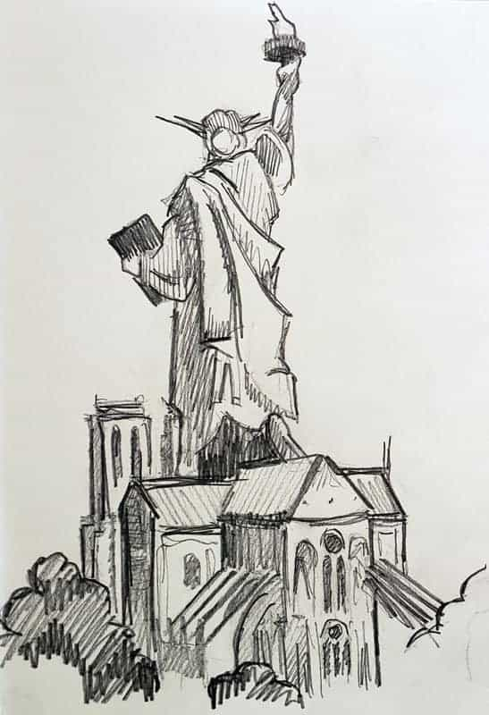 Notre Dame Statue of Liberty