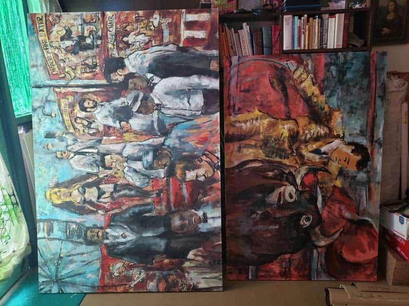 oil paintings in progress