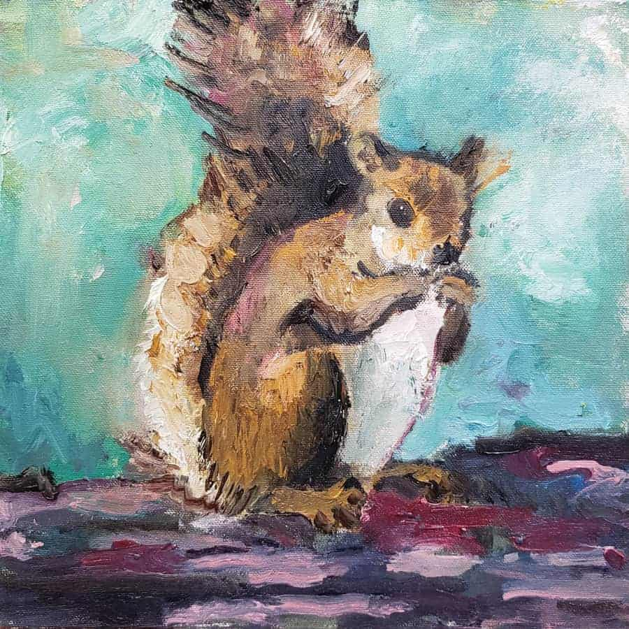 How to paint a squirrel