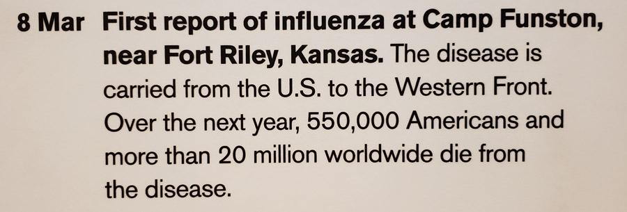 Spanish Flu started in Kansas